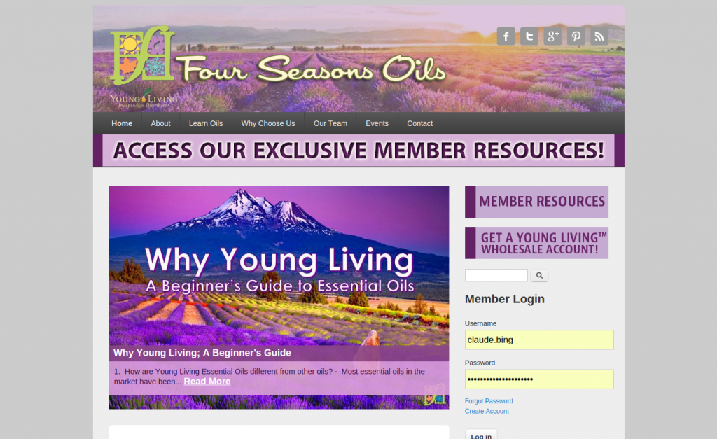 fourseasonsoils.com Screenshot