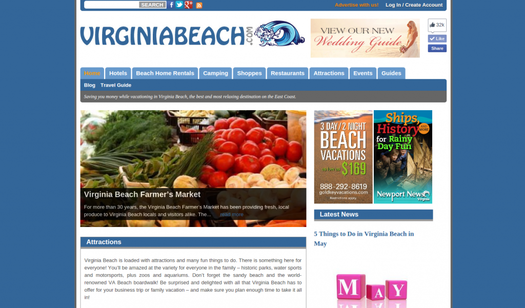 virginiabeach.com Screenshot