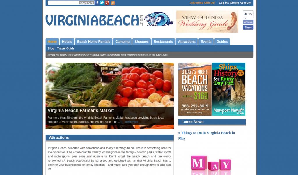 virginiabeach.com Screenshot